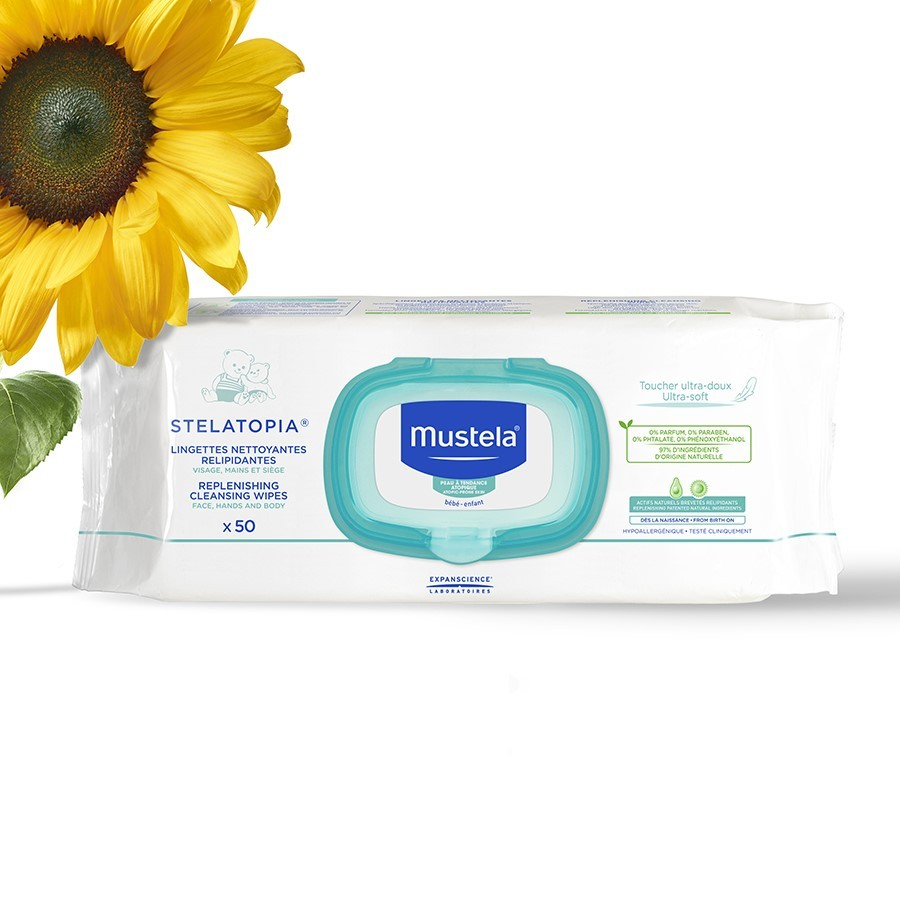 Mustela Stelatopia Replenishing Cleansing Wipes 50 Adet